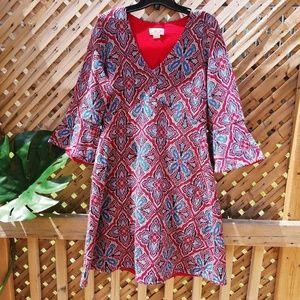 Maeve Anthropologie boho hippie dress